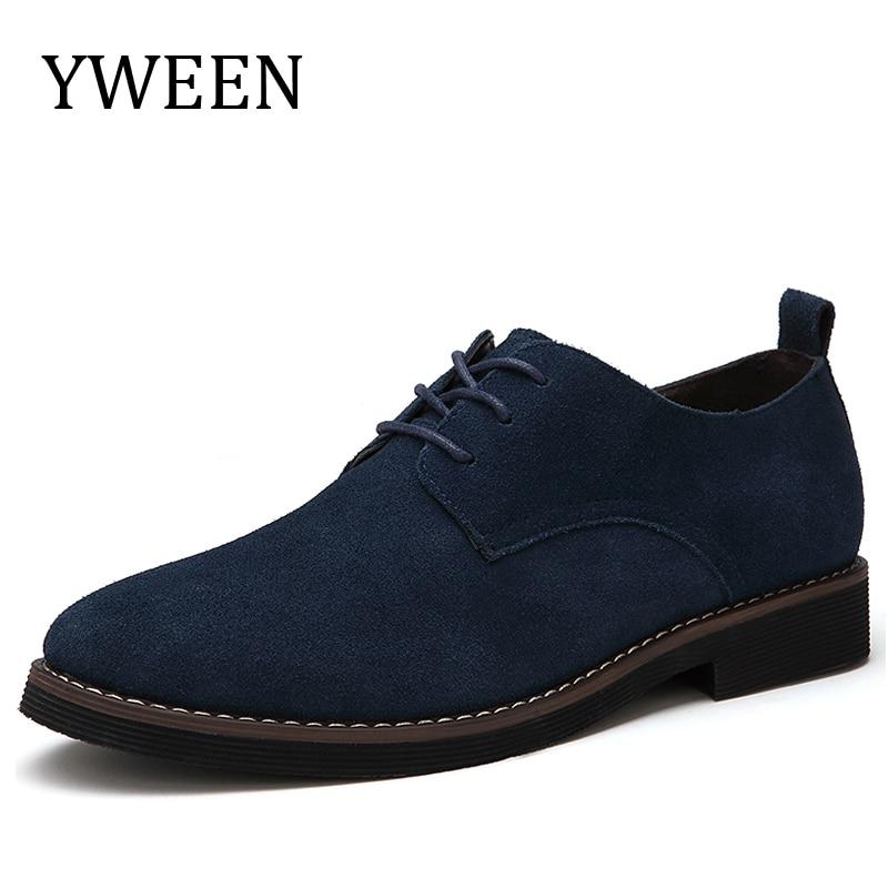 YWEEN zīmols Faux Suede Leather Vīriešu ikdienas apavi Vīrieši - Vīriešu apavi