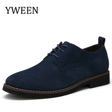 YWEEN Marque Faux Suede Cuir Hommes Casual Chaussures Hommes Oxford Printemps Automne Mode Oxford Chaussures Hommes Taille EUR38-48