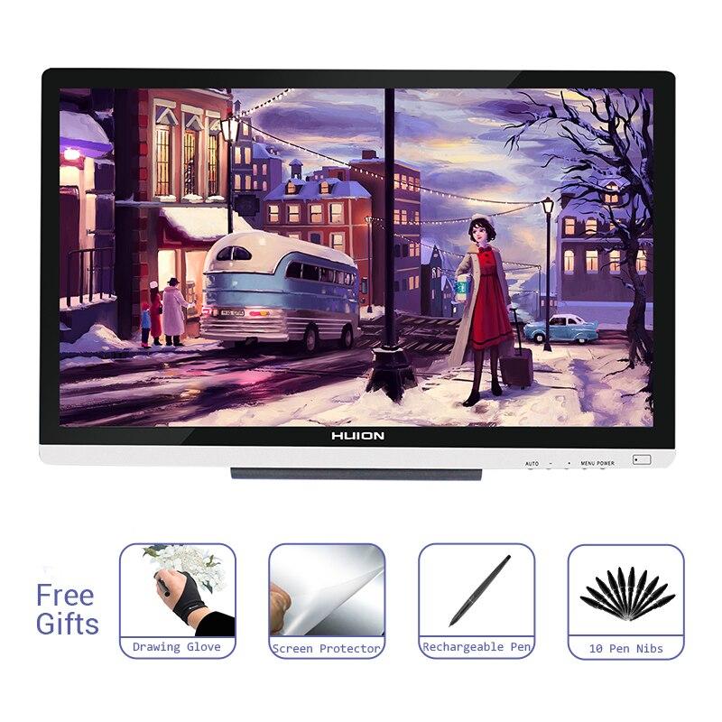 Huion GT-220 V2 Pen Monitor de pantalla arte profesional gráficos digitales dibujo pluma tableta Monitor 21,5 pulgadas HD con 8192 niveles