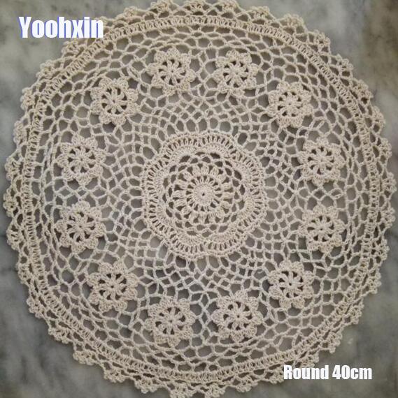 Modern Cotton Crochet Table Place Mat Cloth Lace Placemat Cup Mug