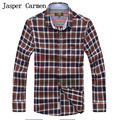 free shipping AFS JEEP brand plus size M-XXXX long sleeve casual shirt plaid style  casual men shirt 78