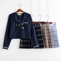 New Arrival Japanese School Uniform Skirt JK Uniform Class Uniforms Sailor Suit College Wind Suit Female Students Uniforms