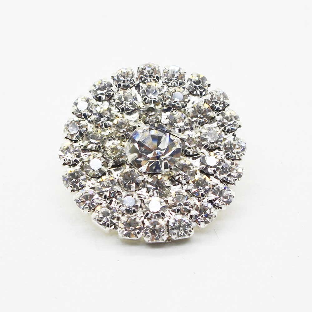 250pcs 25mm Diamonte Rhinestones Buttons for Decoration of font b Wedding b font Party Hair Bows
