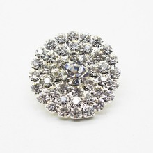 250pcs 25mm Diamonte Rhinestones Buttons for Decoration of Wedding Party Hair Bows Accessories Ribbon Flatback