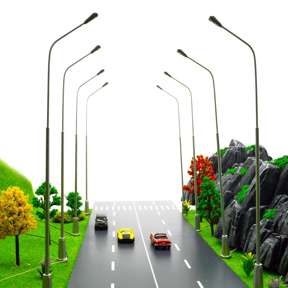 1/200 scale architectural model Metal copper Street Lamps Modelmaking LED Lights Lamppost Model Railway Street Light