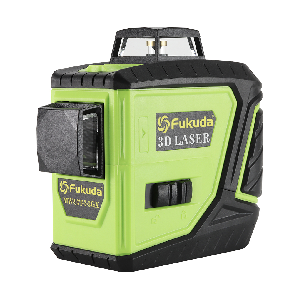 Fukuda rotary laser level 360 12 lines 3D green beam laser leveler Self-Leveling Horizontal Vertical Cross laser line MW-93T new new professional 12 lines 3d 93t laser level self leveling 360 horizontal and vertical cross super powerful red laser beam line