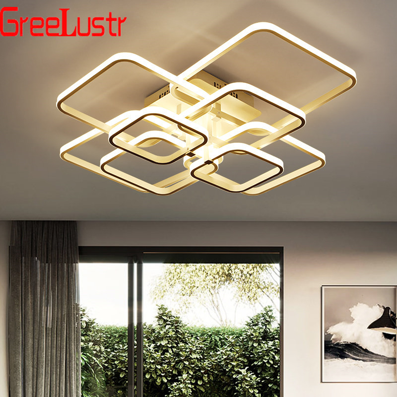 Acrylic Square Modern LED Chandeliers Lighting For Dining Living Room Remote Ceiling Lamp Led Plafon Chandelier Light FixturesAcrylic Square Modern LED Chandeliers Lighting For Dining Living Room Remote Ceiling Lamp Led Plafon Chandelier Light Fixtures