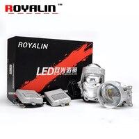 Royalin 36 Вт A4 светодио дный фар Bi светодио дный объектив проектора Высокая Низкая луча сильной Мощность освещение автомобиля Универсальный мо