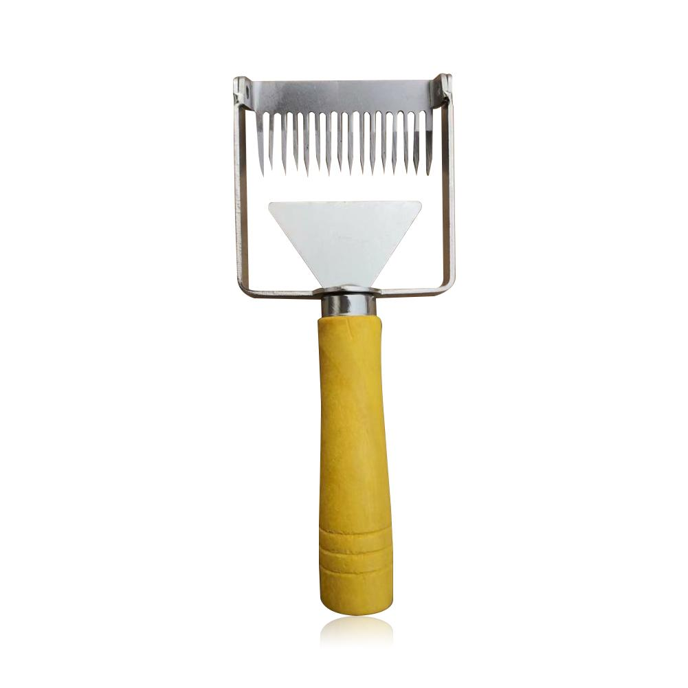 Honey Scraper 2-in-1 Cut Honey Fork Shovel Cutter Beekeeping Tool Stainless Steel Garden Supplies Practical Quick Delivery(China)