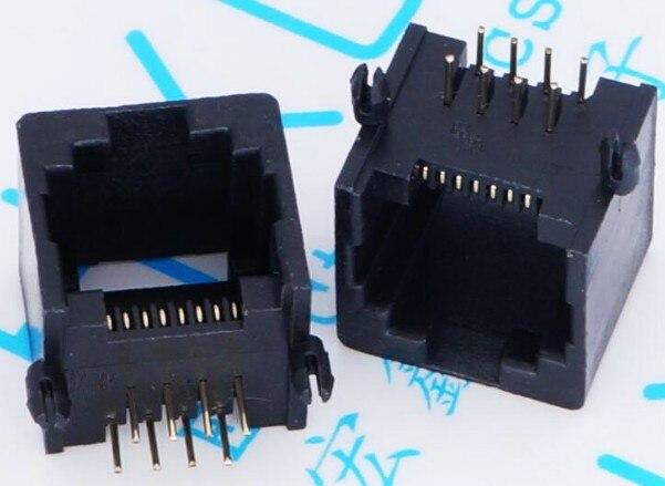 10PCS/Lot RJ11 socket RJ45 telephone socket 8pin crystal female 8P8C socket imc hot 10 pcs rj45 8p8c double ports female plug telephone connector