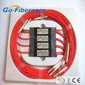 4 unids/lote 1 x 2 módulo divisor PLC 30% / 70% multimodo FTTH fibra óptica acoplador cuadro de conector LC 2 metros