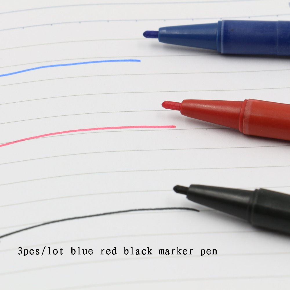 3 PCS Marker Pens Skin Marker Pen Scribe Tool Permanent Tattoo Supplies Good Waterproof Ink Thin Nib Crude Nib New Portable