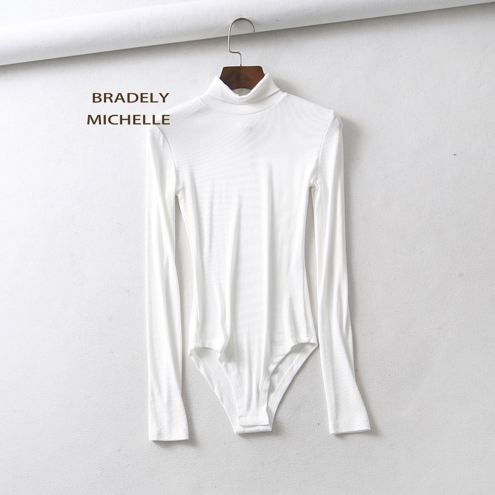 HTB15i5pXiDxK1Rjy1zcq6yGeXXaL - BRADELY MICHELLE autumn casual high-neck long-sleeve knitted bodysuits women new fashion solid  jumpsuits
