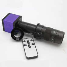 Big discount 14MP HDMI USB Digital Industry Video Inspection Microscope Camera remote control operation TF card storage 10X-360X C-mount Lens