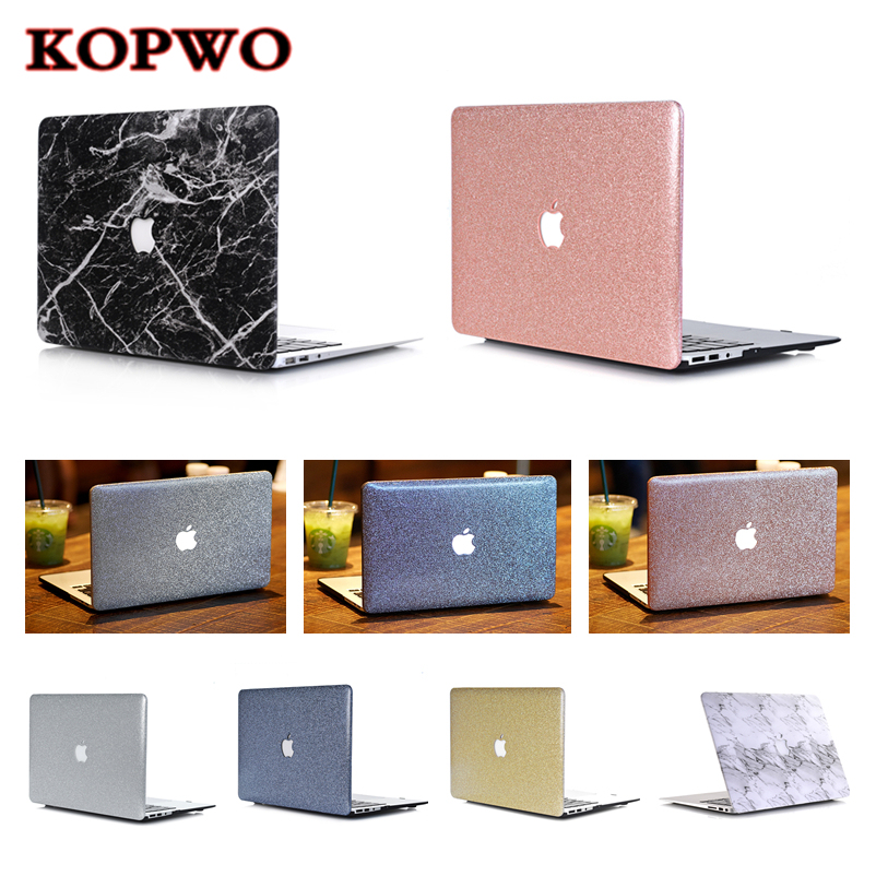 KOPWO Laptop Replace Protective Case For Apple Macbook Air Pro 11 12 13 15 Inch Retina Notebook Hollow Out Logo PU Leather Cover