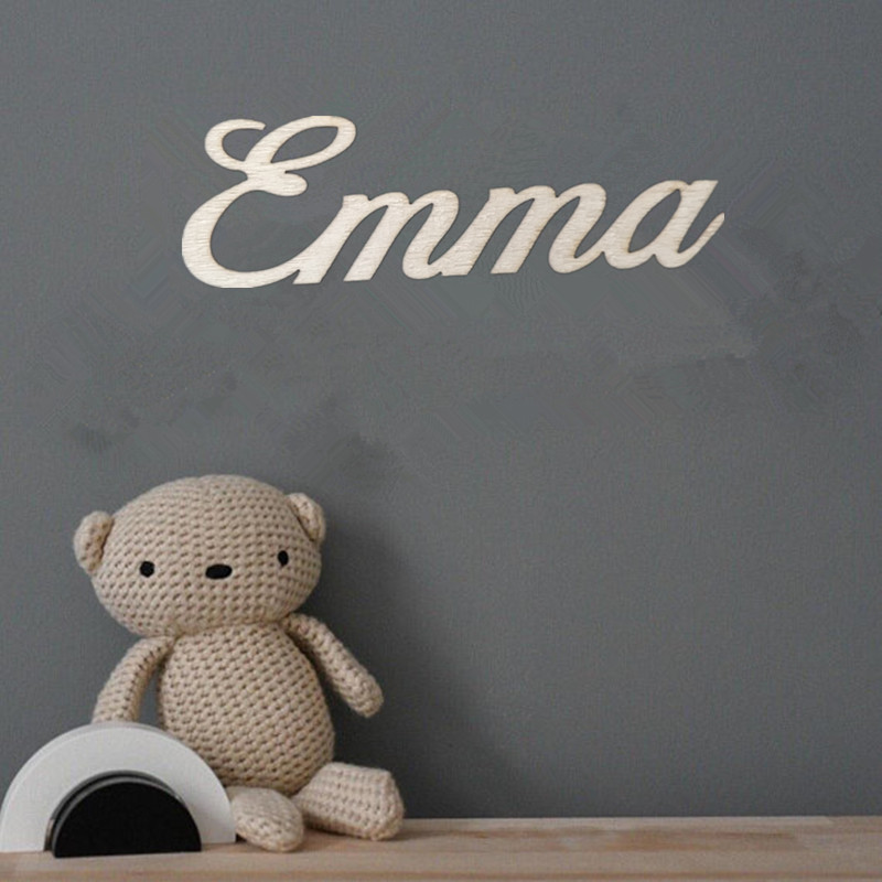 Nursery Decor Letters Wooden For Kids Personalized Name Signs Baby Sign Wall Art Names In Party Diy Decorations From