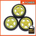 Envío gratis 4 unids/lote Neumático de La Rueda 66X27mm Motorreductor TT motor Rueda De Goma de Los Neumáticos Para El Robot proyecto