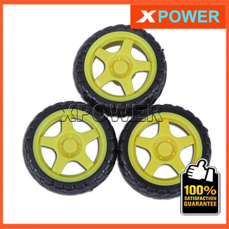 Free shipping 4pcs/lot Wheel Tyre 66X27mm Gear Motor Wheel TT motor Rubber Tires Tyre For Robot project free shipping wholesale for rc car 4pcs lot no 2 1401 rubber wheel tire aperture 2 10mm toy wheel tyre 70x12mm