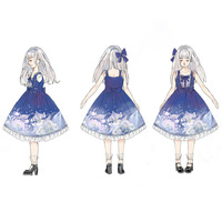 2019 Lovely and sweet dream of the new Japanese whales OP soft sister Lolita JSK Lolita dress skirt with shoulder straps