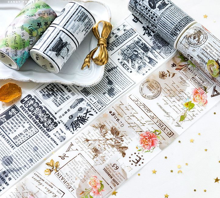 Floral Times Vintage Fashion Wide Washi Tape 80mm*5M DIY Journal Diary Decoration Supplies 1 Piece Free Shipping 2018 New Gift vintage times design high quality washi tape 10cm 5m diy journal diary decoration supplies gift free shipping