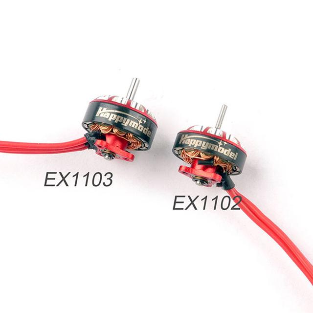 4pcs Happymodel EX1103 1103 6000KV 8000KV 12000KV 2-4S Brushless Motor for Sailfly-X Toothpick RC Drone FPV Models DIY Accessory