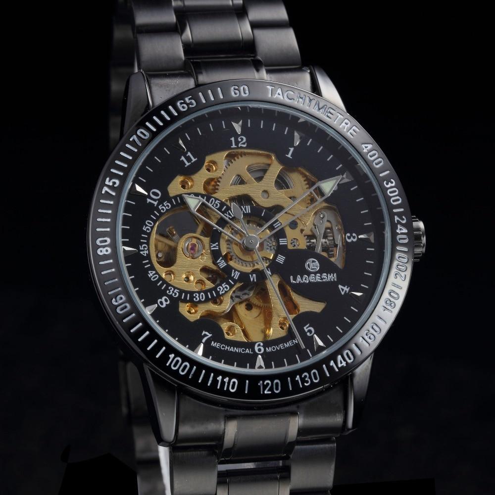 men watches Luxury Brand Top Full Steel Sports Watch Men Automatic Mechanical Watch Male Skeleton Wristwatches zegarki meskie