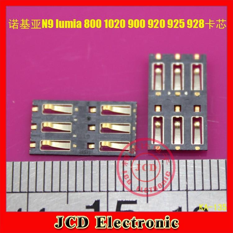 3pcs/lot 100% New SIM Card socket slot tray reader repair parts for NOKIA N9 lumia 800 1020 900 920 925 928 909 high quality