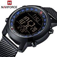 Top Brand NAVIFORCE Men LED Digital Watch Sports Watches Men's Stainless Steel Military Waterproof Wrist watch Relogio Masculino