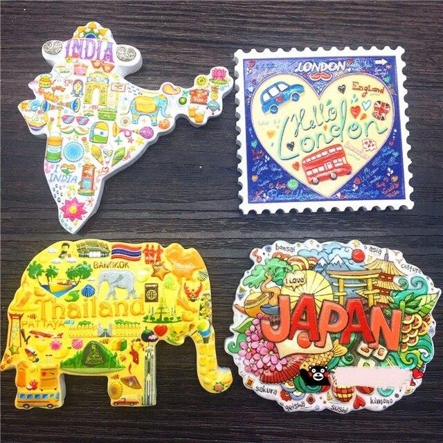 world tourist souvenir 3dprint japan india uk thailand refrigerator