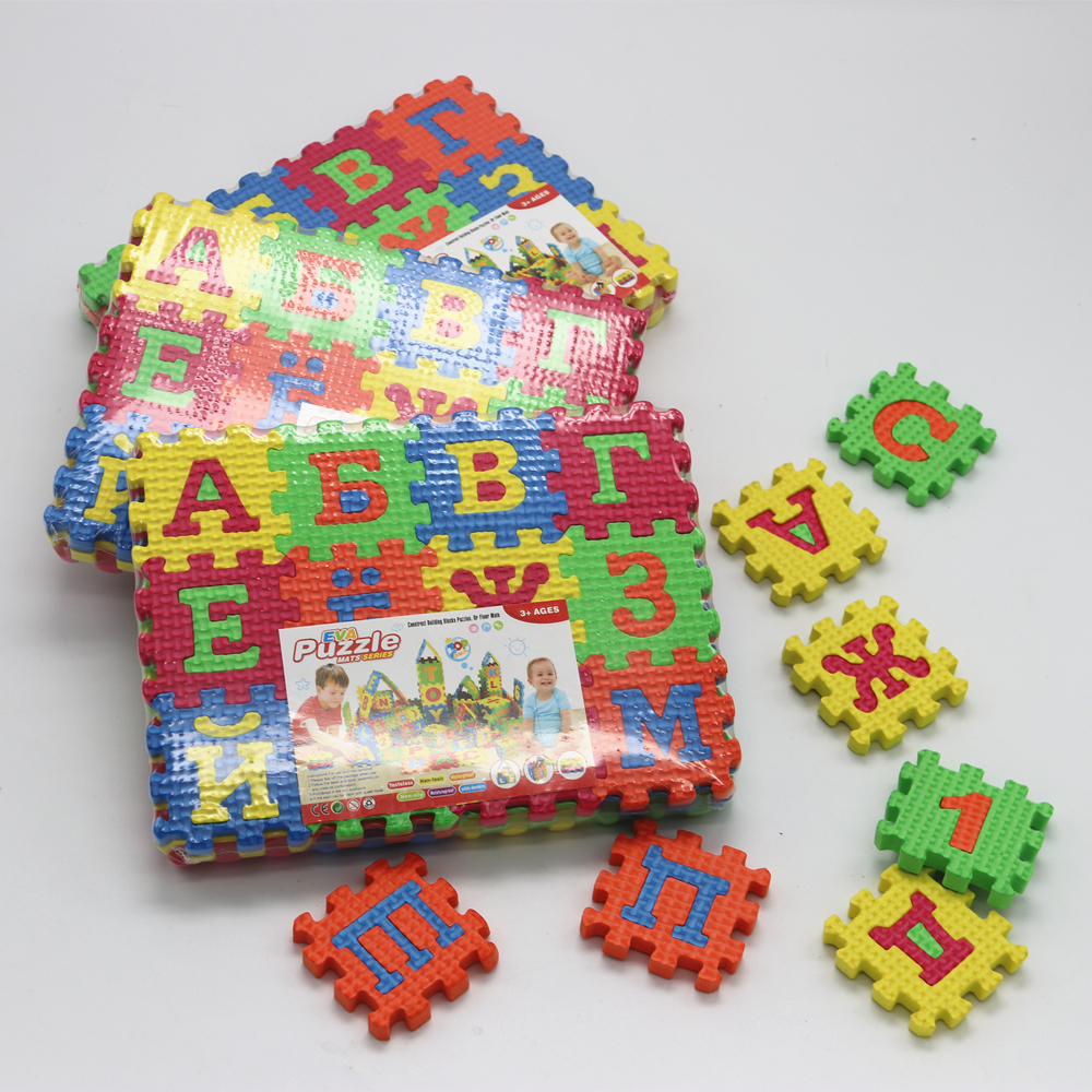 Russian alphabet letter toys Kids baby puzzle mats 55 * 55MM carpet babies 33PCS Russian Language foam learning toy