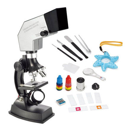900X 600X 300X 100X 4 Way System Pupils Children Scientific Experiments Educational Toy Projection Microscope Set