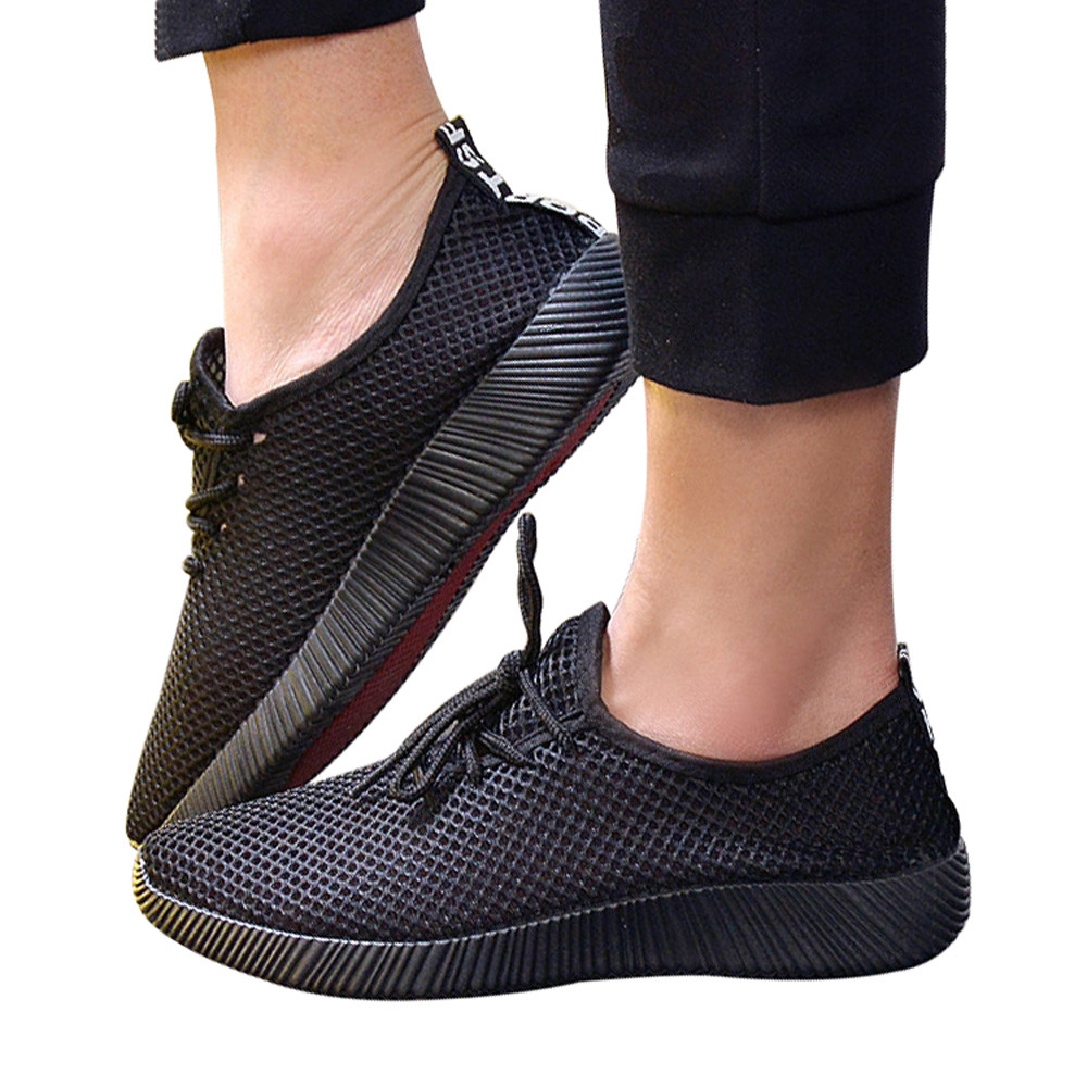Zapatillas blue Nuevos Malla Ventilación Sólida Transpirables Atada Hombre Casuales Hombres Cruz Black Zapatos gray 2018 vUOxBxwz