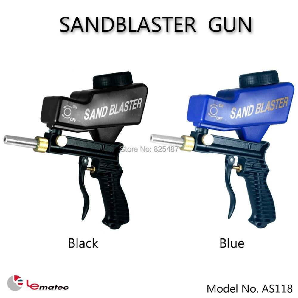 LEMATEC Gravity Feed Sandblaster Gun Air Sandblasted Media Spray Gun for remove rust paint Sandblasting Taiwan Made Air Tools