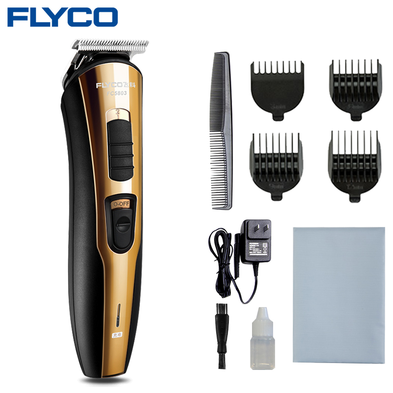 Flyco Gold 100-220 V Tondeuse Cheveux Tondeuse pour enfants chien chat barbe Tondeuse Cheveux Professionnelle électrique rasage Machine FC5803