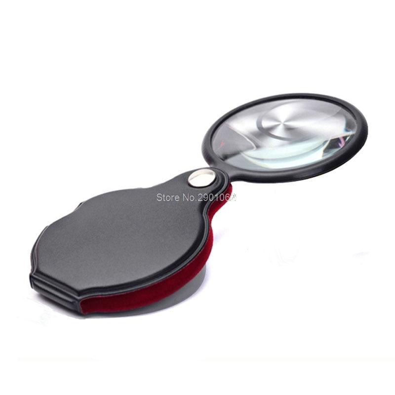 1 Pc 8/6x50/58mm Mini Tasche Klapp Schmuck Lupe Vergrößerungs Augen Glas Lupe Linse