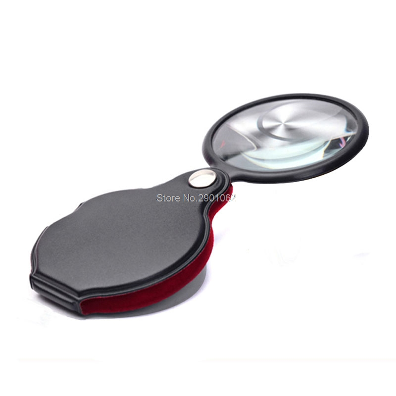 1PC 8/6X 50/58mm Mini Pocket Folding Jewelry Magnifier Magnifying Eye Glass Loupe Lens