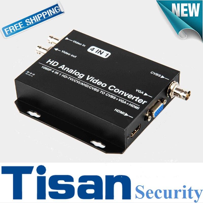 Newest 720P 1080P HD AHD CVI TVI CVBS TO HDMI VGA CVBS Video converter for CCTV camera Support AHD CVI TVI CVBS loop output ложка для пасты tefal talent k0800214