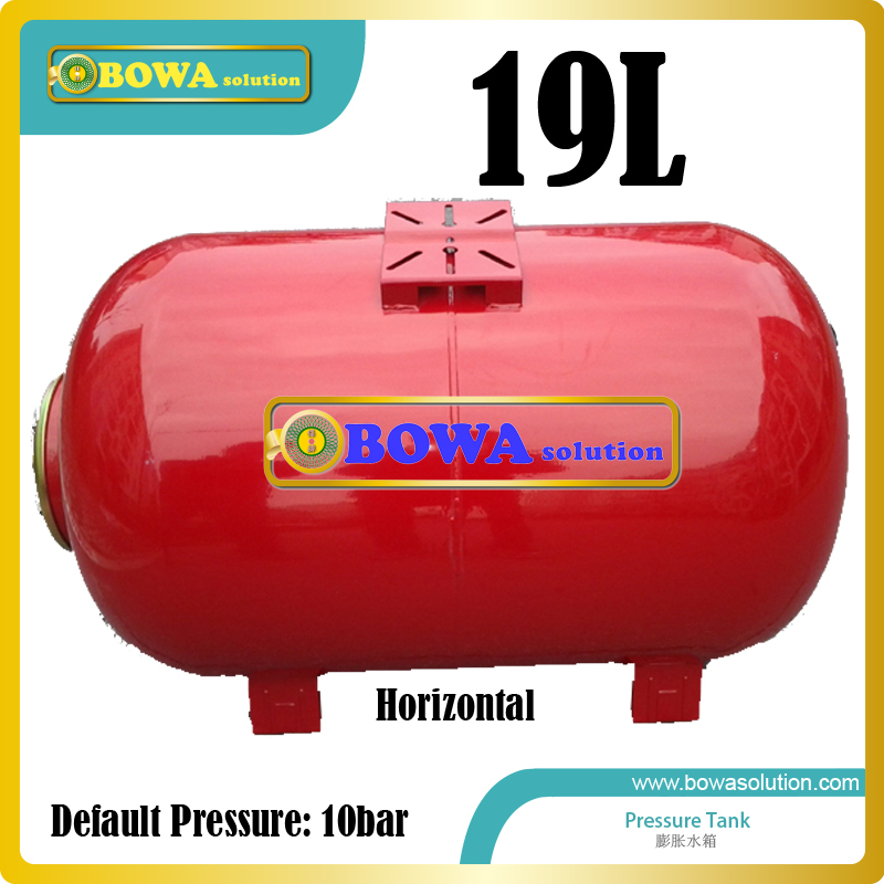 19L carbon steel horizontal pressure tanks suitable for kinds of water chillers, air conditioners and boiler system horizontal pressure tank 36l carbon steel