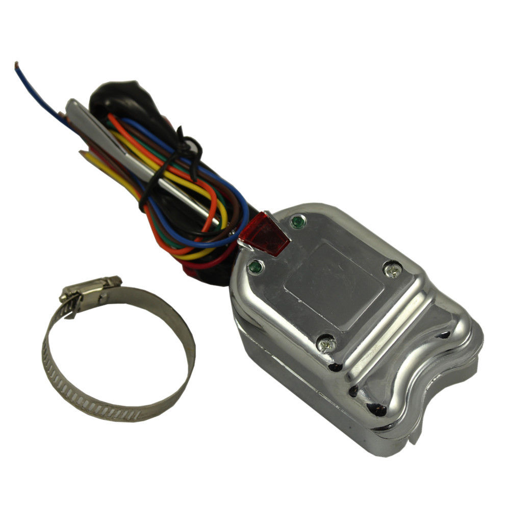 New 1 Chrome 12V Universal Street Hot Rod Turn Signal Switch for FORD BUICK high quality