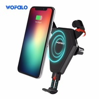 Car Qi Fast Wireless Charger Wireless Cell Phone Fast Charge Wireless Charging Stand For Iphone X