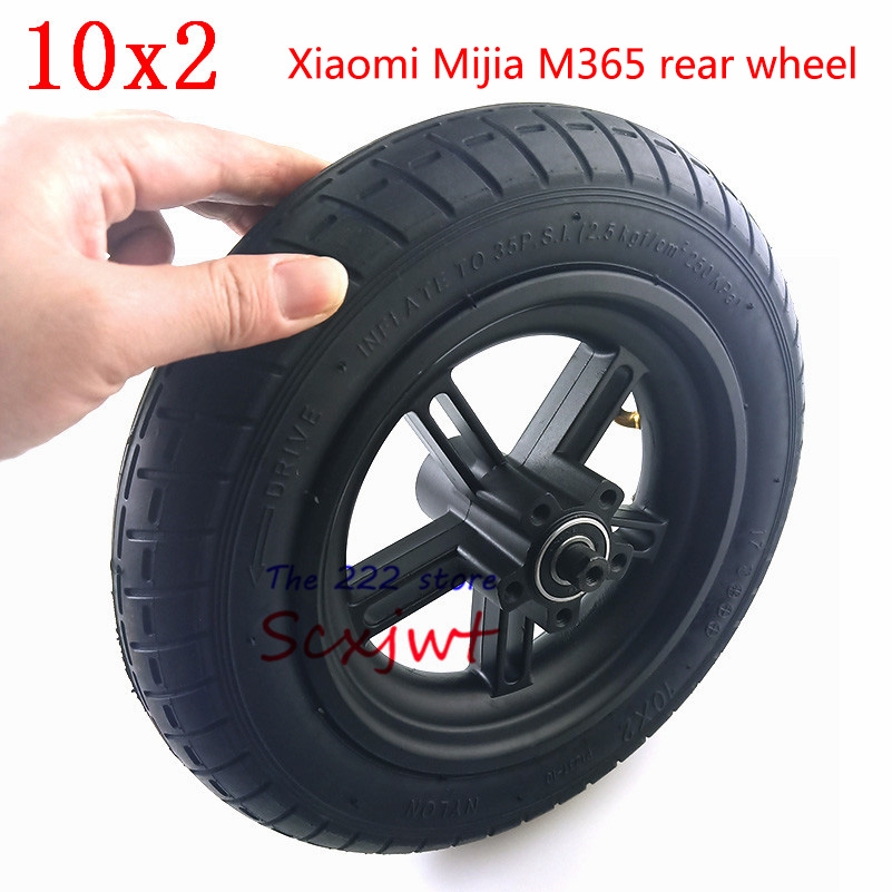 Image 4 - Upgraded 10 Inches Electric Scooter Xiaomi Mijia M365 front Motor wheel tyres & Inflation rear tyres Wheel 10x2 Outer Inner Tube-in Tyres from Automobiles & Motorcycles