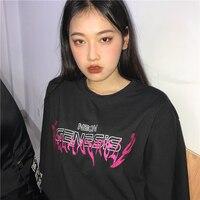 Женская футболка Летняя с круглым вырезом Harajuku Tee Женская футболка с буквенным принтом короткий рукав Топ Женская Нижняя модная футболка