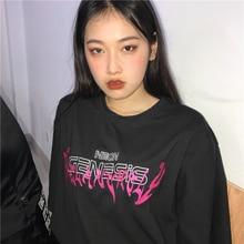 Women's T-Shirt Summer O-Neck Harajuku Tee Female Printed Letter Short-sleeve To