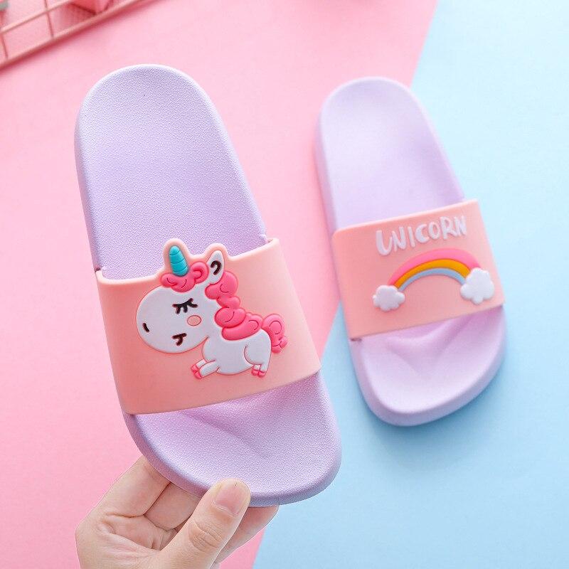 Baby Shark Clogs Kids Slip On Water Beach Shoes Flip Flop Childrens Sandals 5-12