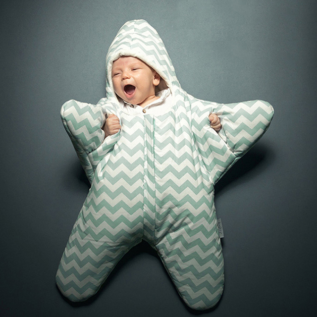 New Designer Adorable Star Shape Baby Sleeping Bags Winter Baby Sleepsack Warm Baby Outdoor Stroller Blanket Swaddle Sleepbags