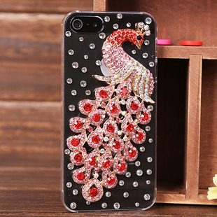 For iphone  5 mobile phone peacock  for apple   5 shell protective phone case leather case mobile phone case