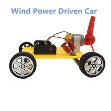 DIY Vento Conduzido eletrônico montagem Carro de Brinquedo educação criatividade barato idade 3 +