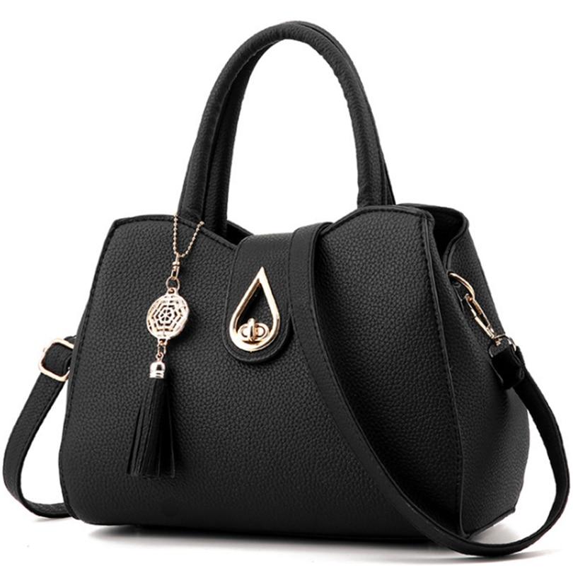Women Tassel Pendant Handbag Water Droplets Sequined Messenger Bag High Capacity