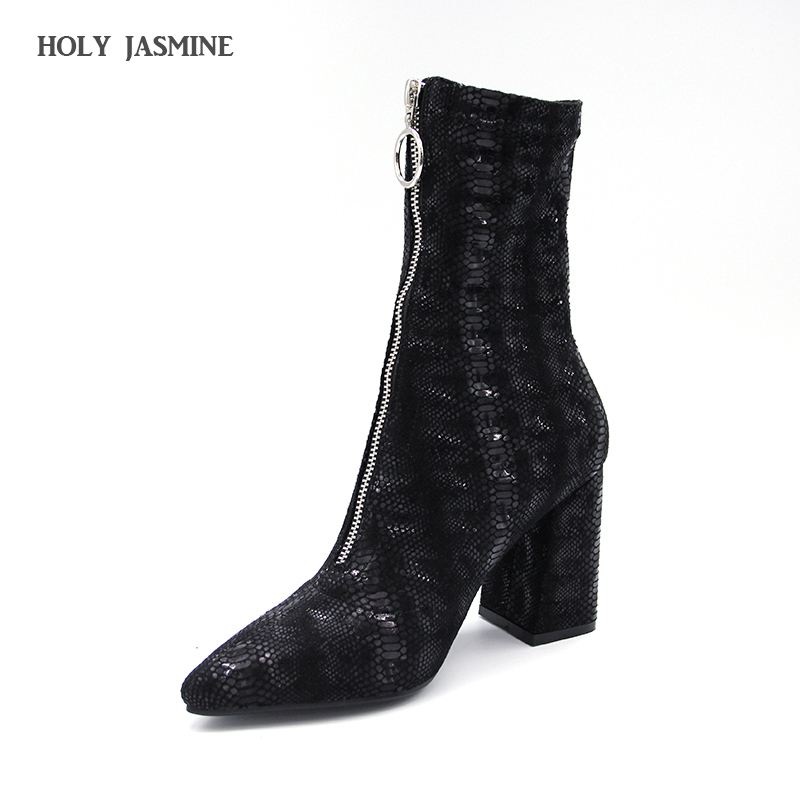 2018 New Black Women Sock Boots Stretch Fabric Slip On 9CM High Heels Pointed Toe Ankle Boots Women Pumps Stiletto Ladies Shoes enmayla new women slip on chelsea boots suede black crystal ladies ankle boots for women round toe med heels shoes woman