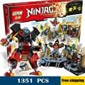 1351 шт. Новый 06039 Samurai X Пещера Хаос DIY Модель Строительные Блоки уникальные элементы Игрушки Совместимость с Lego
